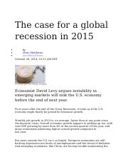 The case for a global recession in 2015.docx