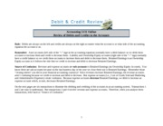 Debit and Credit Review