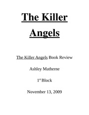 the killer angels documents course hero the killer angels essay