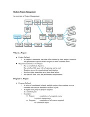 Chapter 1 notes-Modern Project Management