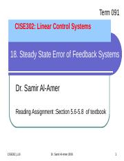 CISE302_091_Lecture18_Steady State Errors.ppt