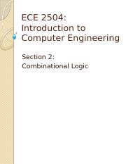 Week 02 Combinational Logic
