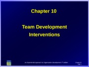 10-TEAM DEVELOPMENT INTERVENTIONS