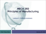 lecture 6 - drilling processes