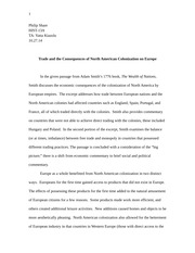 adam smiths influence on contemporary management essay