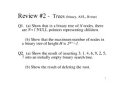 Review - Trees