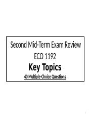 ECO 1192 Mid-Term #2 Review.pptx