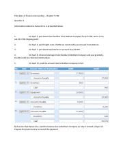 Principles of Financial Accounting- CH 5 HW