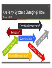 16 - Changing Party Systems