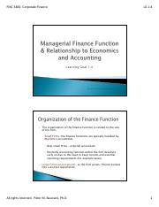 LG 1-4-  Managerial Finance and Relatonship to Economics and Finance