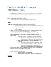Chapter 6 – Political Economy of International Trade.docx