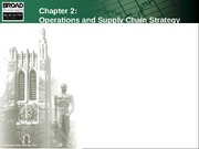 Chapter 2 Operations and Supply Chain St