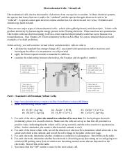 4 Pages Electrochemical_Cells_ _Virtual_Lab ·  Electrochemical_Cells_ _Virtual_Lab; Coppell H S; IB Chemistry ...