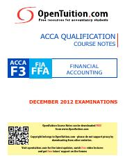 ACCA Paper F3 December 2012 exams