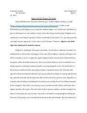 DIGNITY AND SELF-RESPECT ESSAY.docx