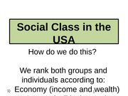 105 Stratification  Pt2, Social Class in the USA pp