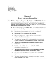 Travel expenses, home office