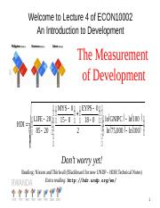 Lecture 4: Measuring
