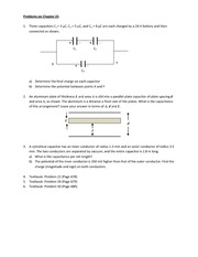 Solutions to Problem set on Chapter 25