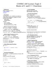 4, Basics of C and C++ Functions.pdf