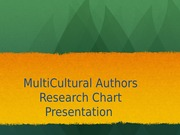 Multicultural Author Research