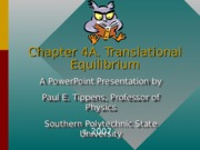 Chapter4A Translational Equilibrium