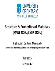 02 Structure and Properties of Materials Lecture #2-Part one and two.pdf