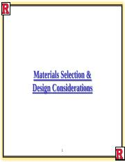 Materials Selection  case study 407