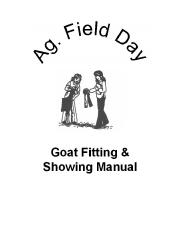 Ag. Field Day Goat Manual