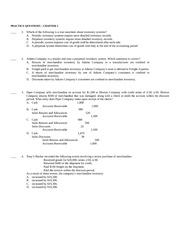 BMGT 220 Chapter 5 Practice Questions