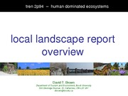 TREN 2P94 Local Landscape Report Lecture Note 2013