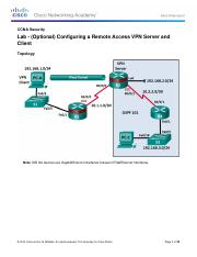 8.7.1.3 Lab - (Optional) Configuring a Remote Access VPN Server and Client.pdf