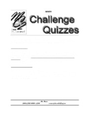 MC II_Project 6_Challenge quizzes