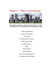 Chapter 1   What is Anthropology-4