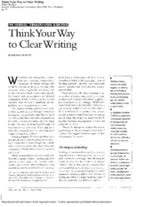 Minto, Think Your Way to Clear Writing I (JMC 1998).pdf