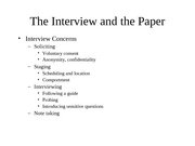The Interview and the Paper 2-25-08