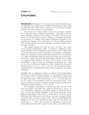 12. Uncertainty - Solutions
