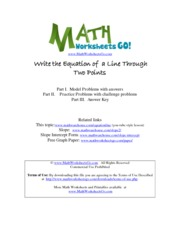 Equation of line 2 points
