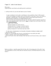 auditing- Chapter 23 outline