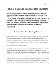 BUS101 Business Plan Template