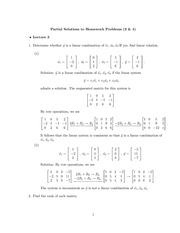 Homework B Solutions on Elementary Linear Algebra