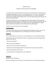 Primary Source Assignment Template