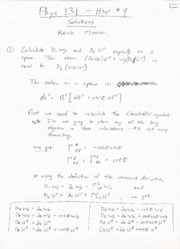 Phys 131 - HW9 Solutions