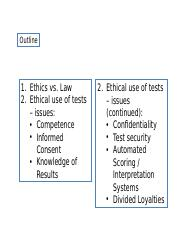 Week 13 Ethics and Legal Issues