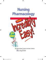 nursing pharmacology made incredibly easy incredibly easy series incredibly easy series