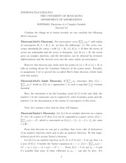 MATH 2403 2013 Tutorial 7 Solutions