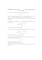 Sample Midterm 2 Solutions Winter 2011