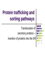 (2) Protein translocation and insertion into ER membrane.ppt