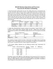 exercises-workforce-scheduling