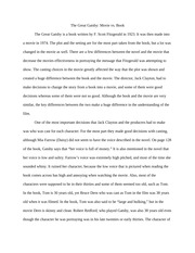 compare and contrast essay the great gatsby the great gatsby  compare and contrast essay the great gatsby the great gatsby movie vs book the great gatsby is a book written by f scott fitzgerald in 1923 it was
